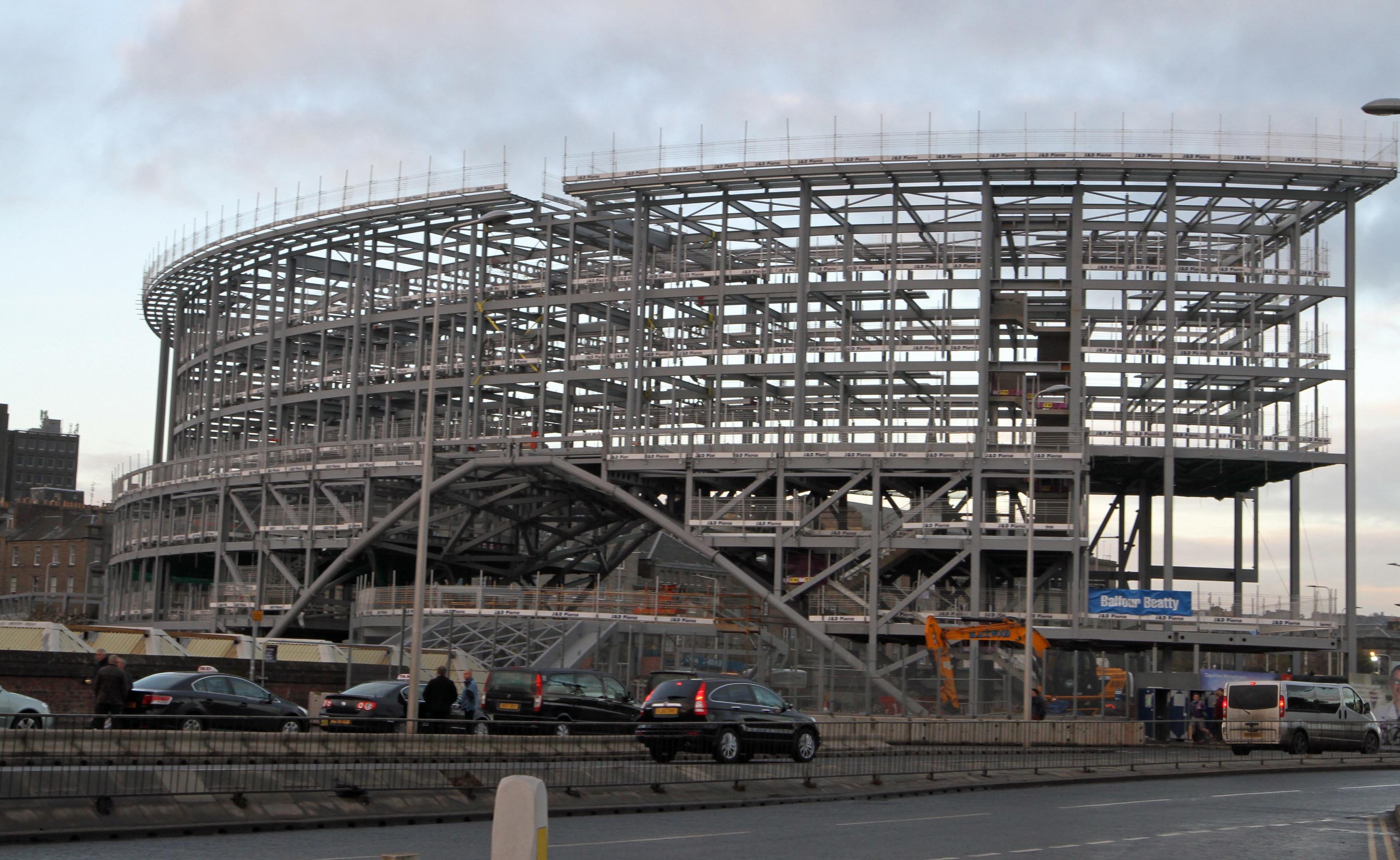 Dundee railway station is currently being redeveloped.