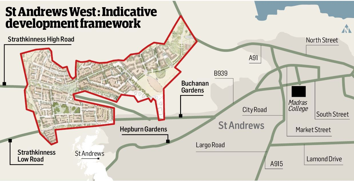 An idea of how the St Andrews West expansion will look.