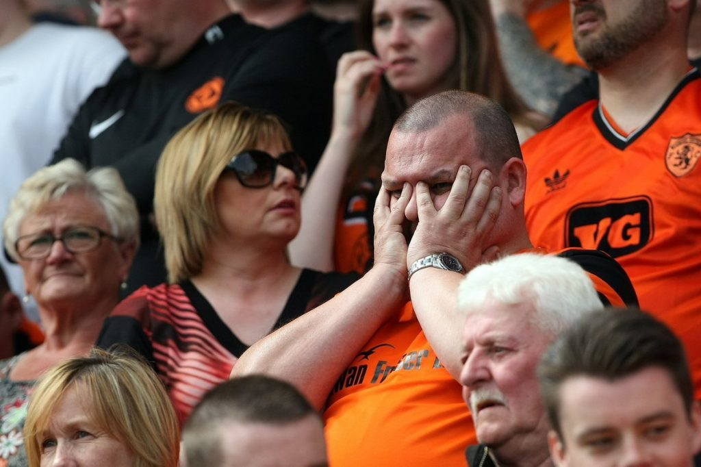 Dundee United fan in the crowd at New Douglas Park.