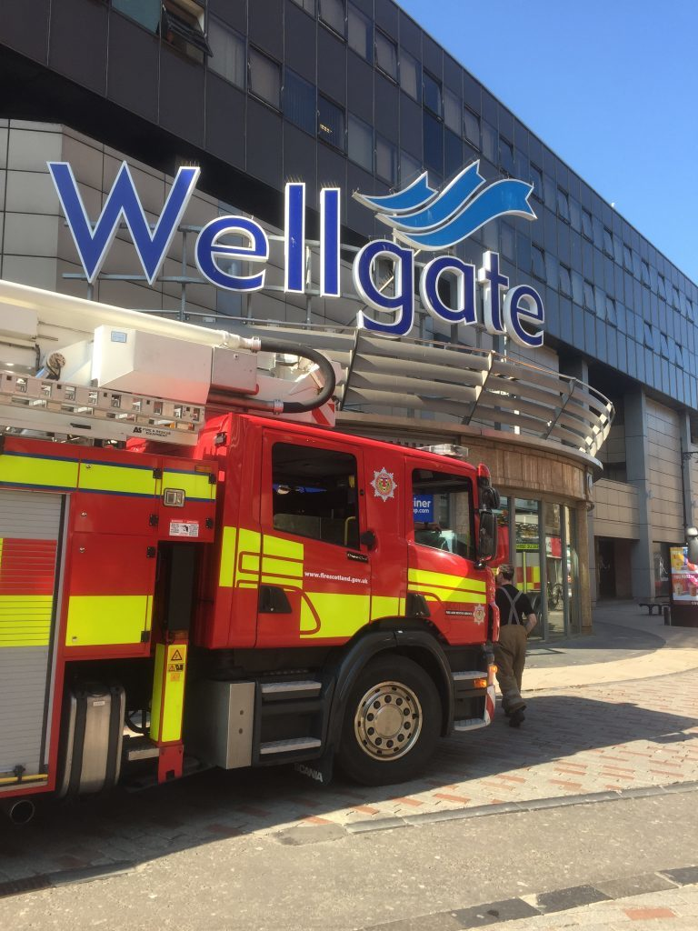 Firefighters at the Wellgate.