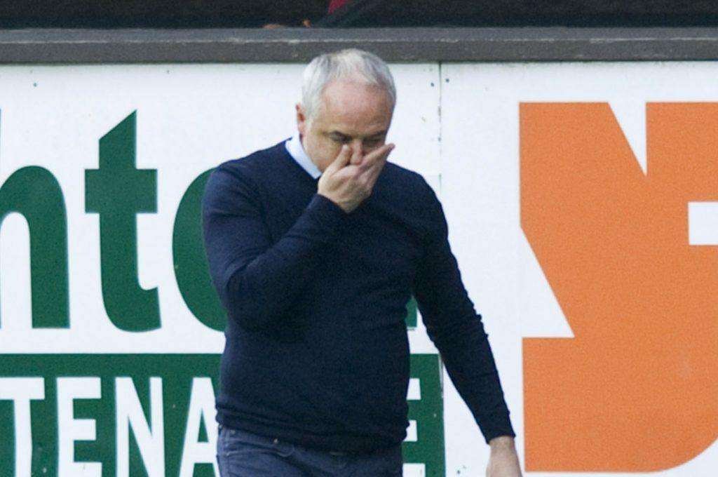 Dundee United manager Ray McKinnon at full time on Saturday.