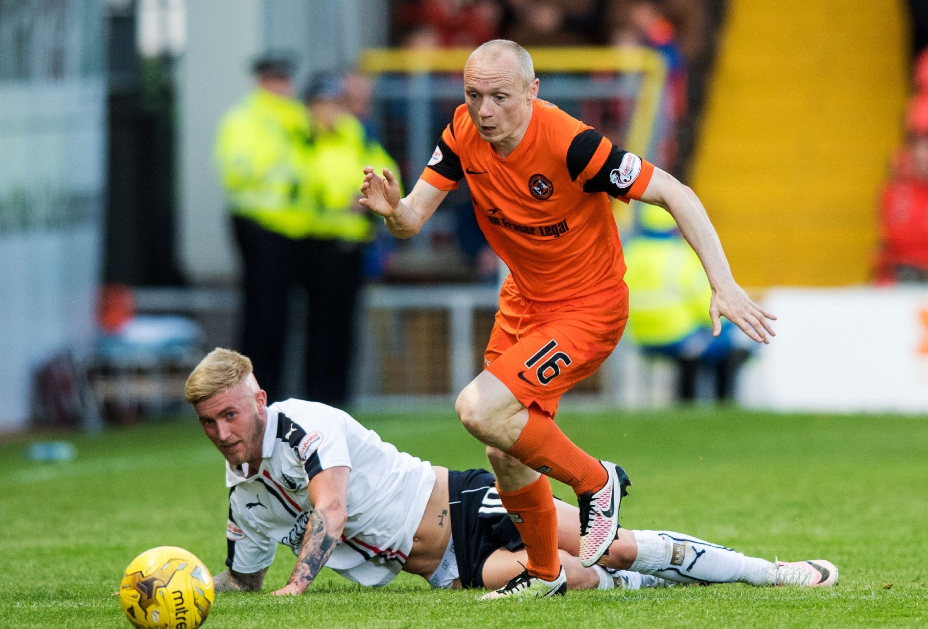 Willo Flood in action against Falkirk.