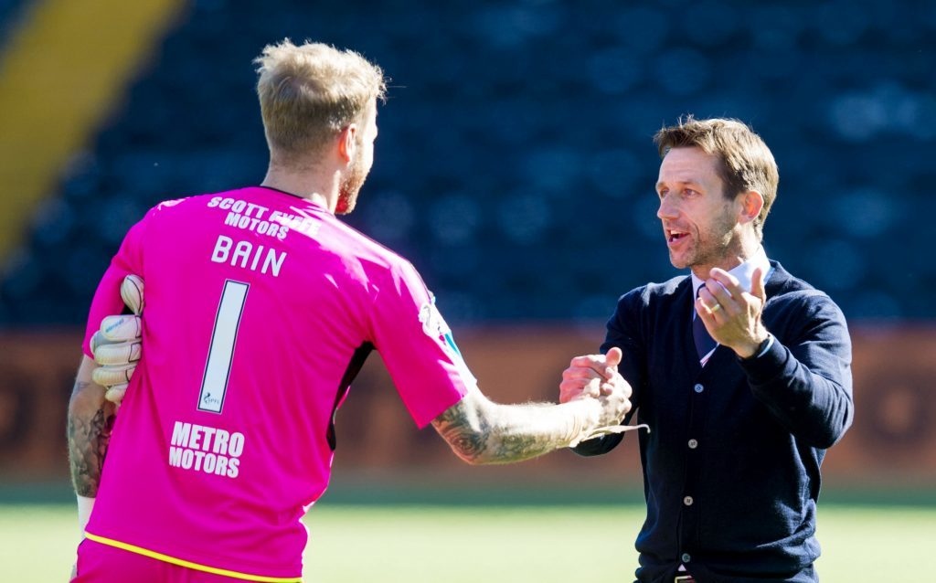 Will Scott Bain still be Neil McCann's goalkeeper next season?