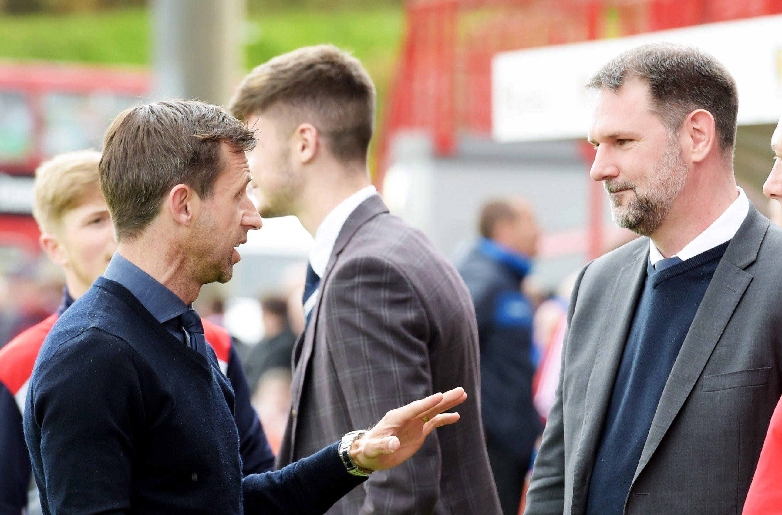 Neil McCann with John Nelms (right).