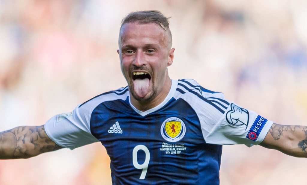 Leigh Griffiths celebrates his first goal.