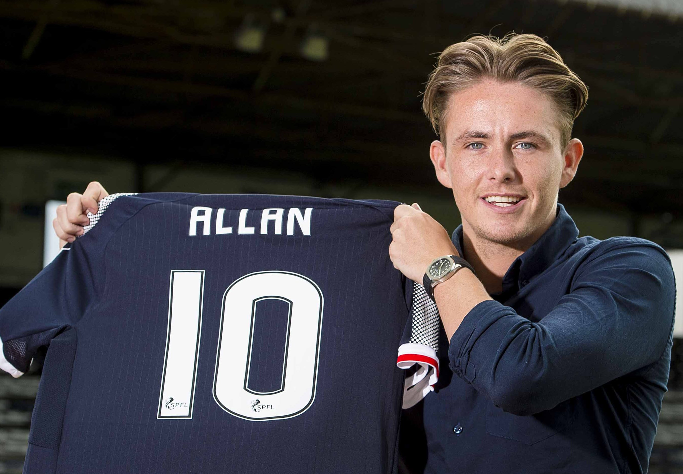Allan also had loan spell with Dundee