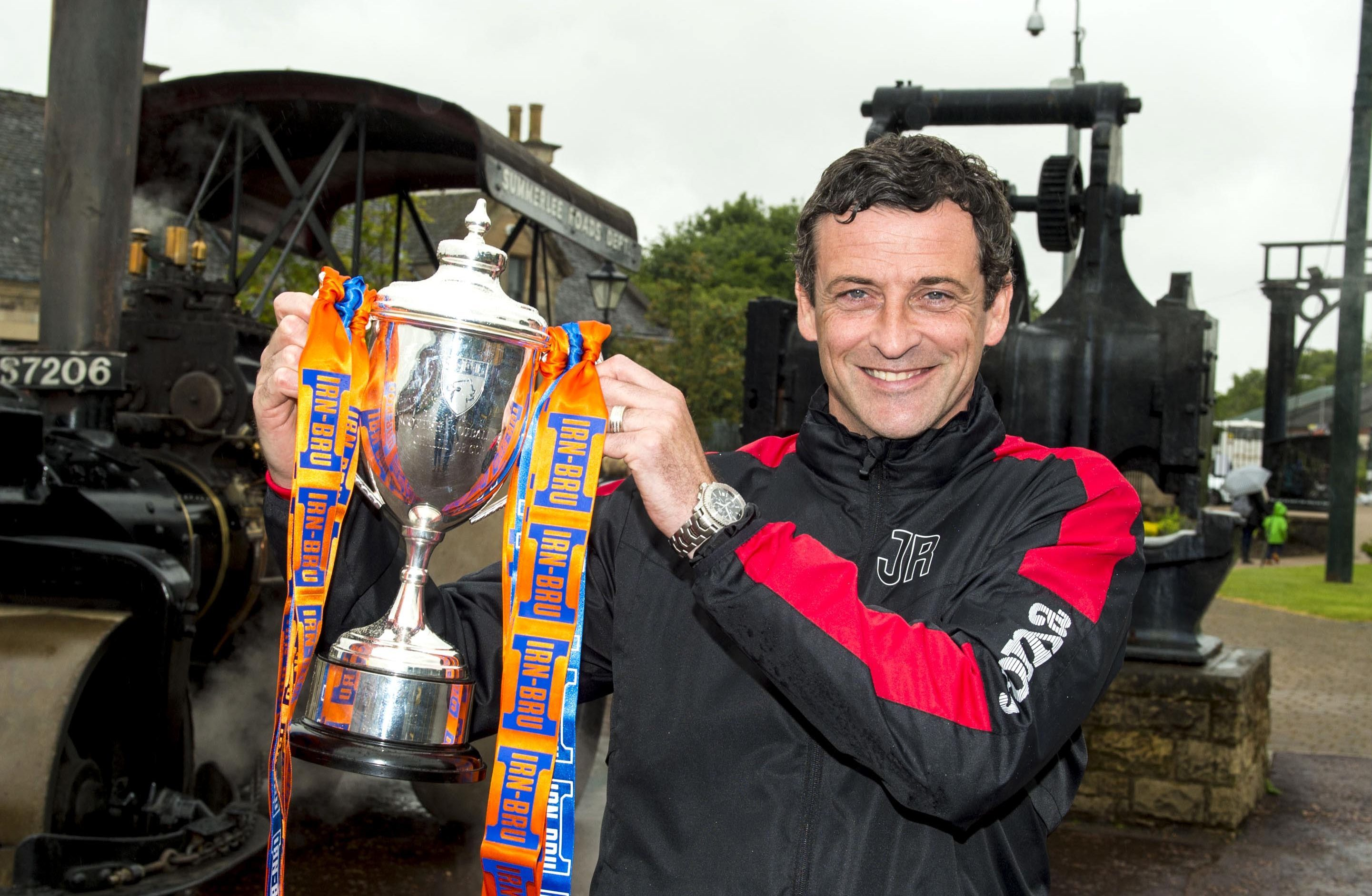 Jack Ross at yesterday's IRN-BRU Cup draw.