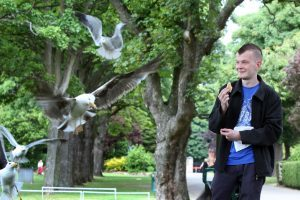 Mr Menellis has complained about the town's gull problem before.