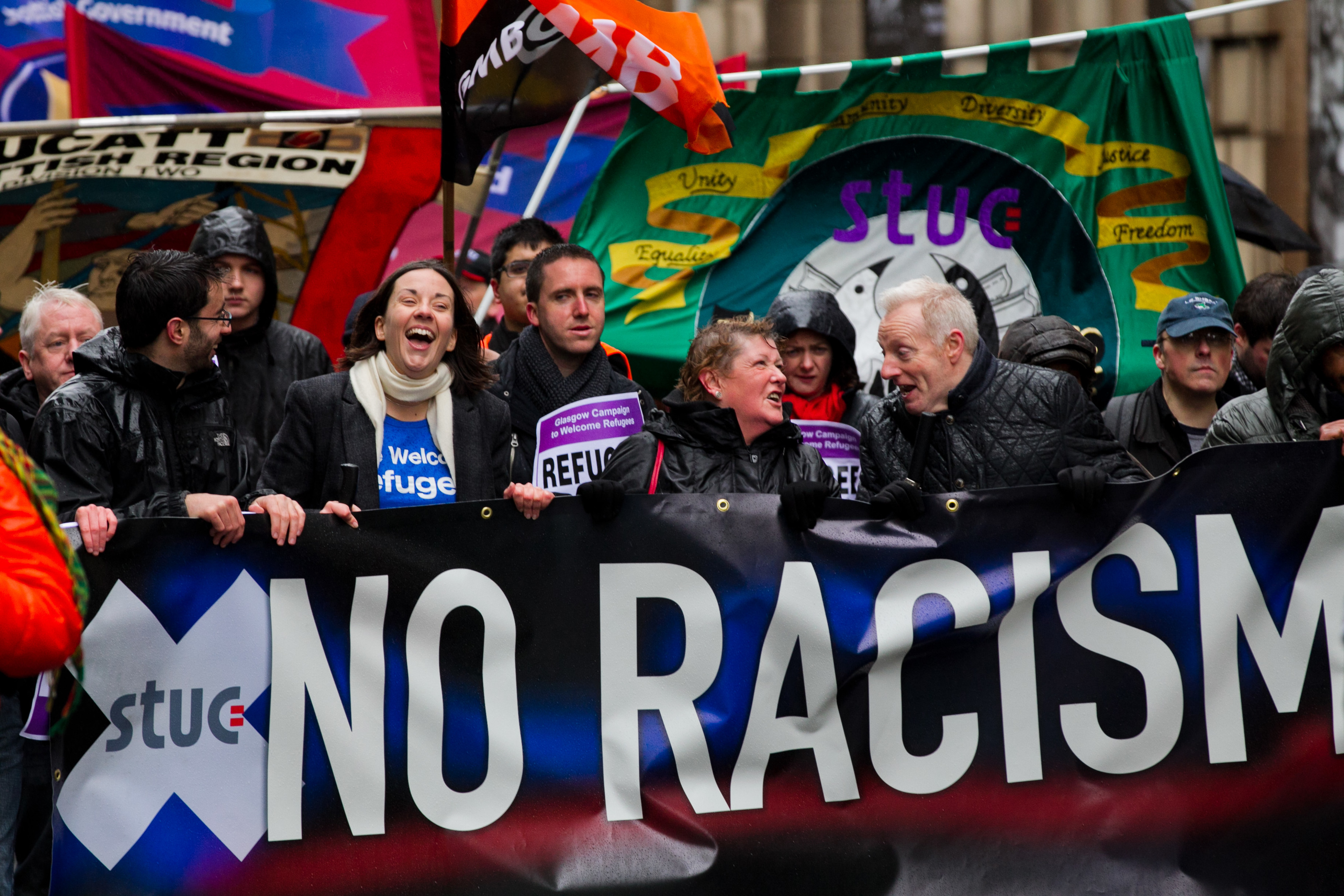 Anti-racism march in Glasgow in 2017