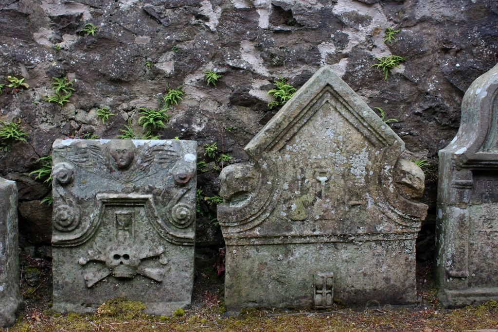 3 - Headstones in the graveyard of St Fillan's Church - James Carron, Take a Hike