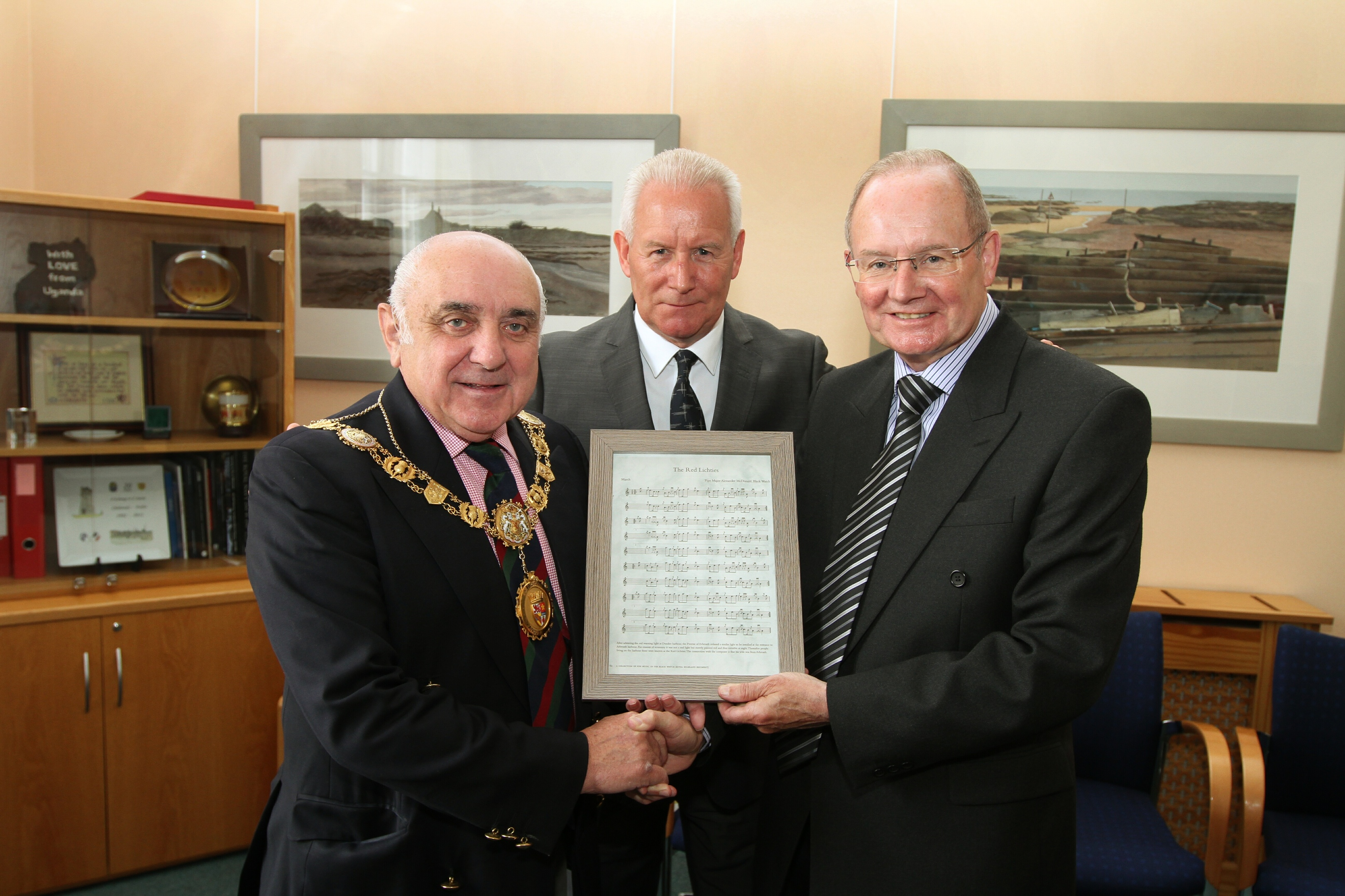 Angus Provost Ronnie Proctor, David and John Christison.