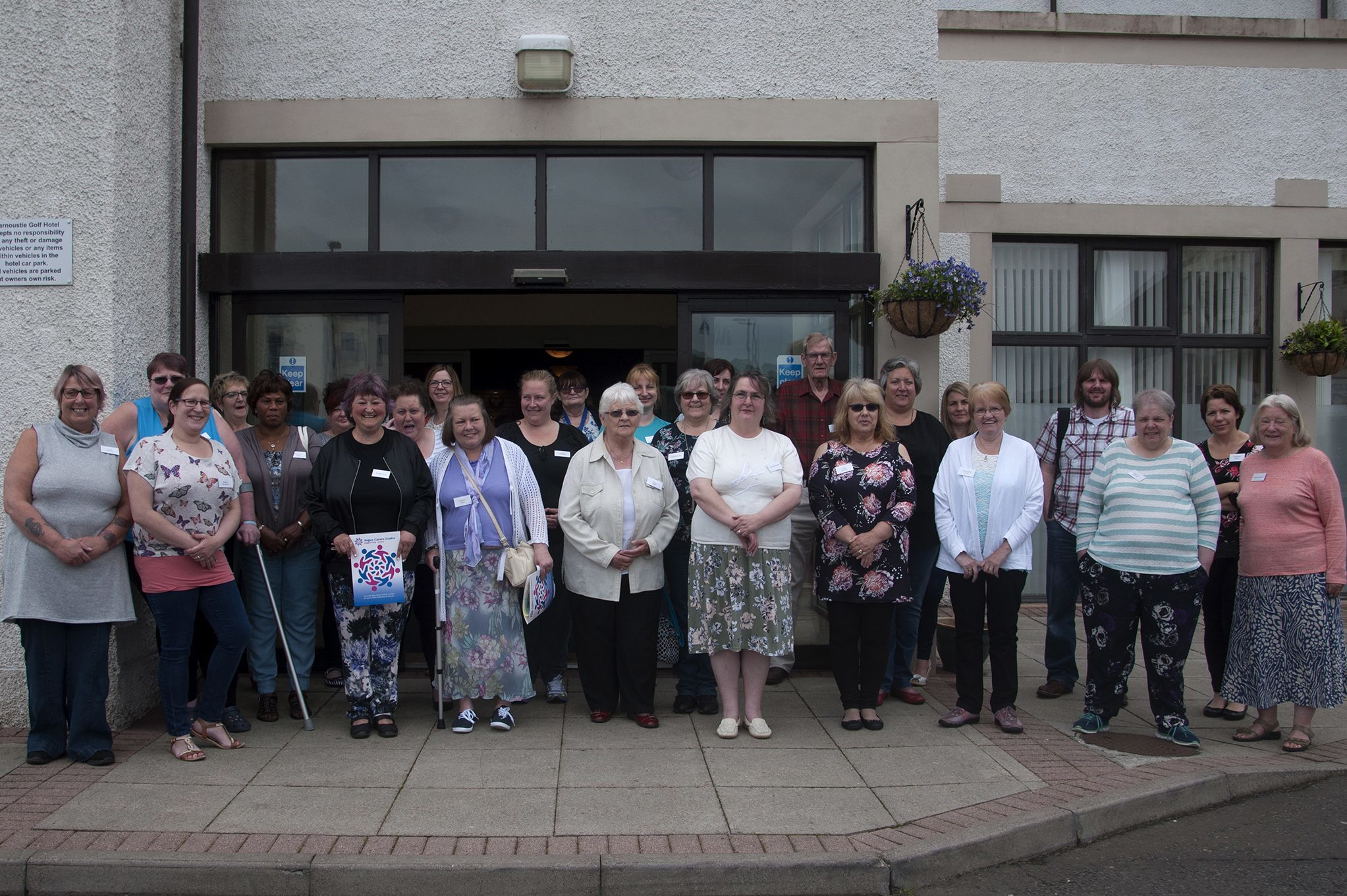 Angus carers who assembled in Carnoustie