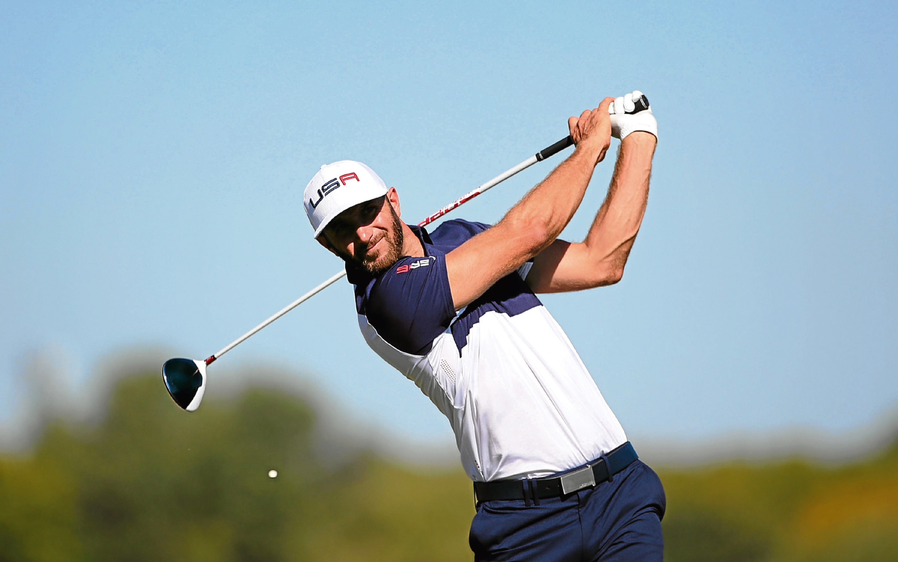 World No 1 Dustin Johnson is one of golf's longest hitters.