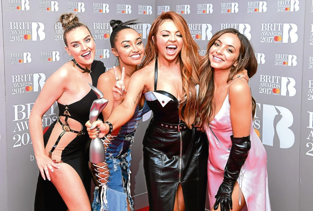 Little Mix's Perrie Edwards. Leigh-Anne Pinnock, Jesy Nelson and Jade Thirlwall.