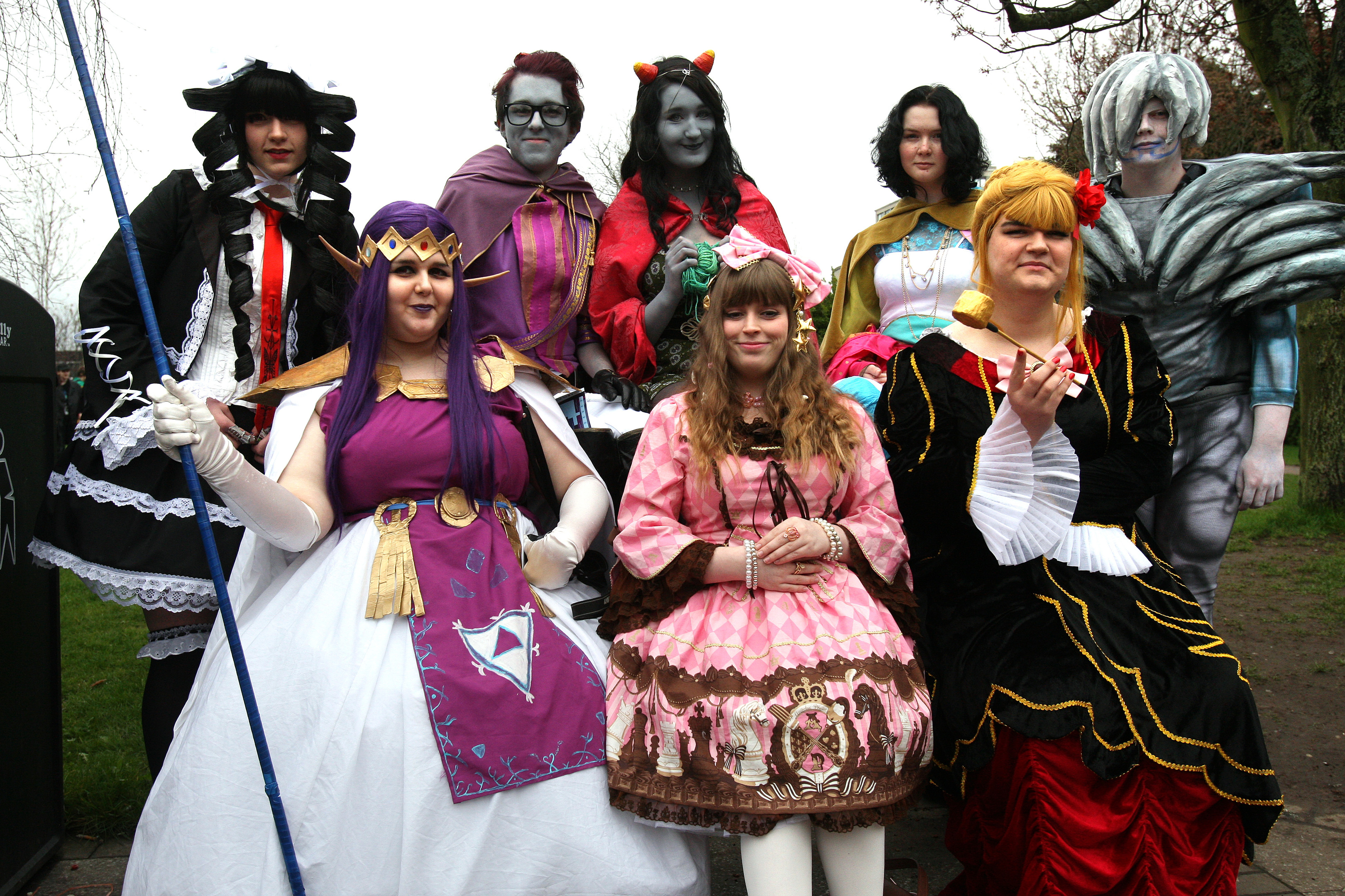 DeeCon attendees in costume at April's event.