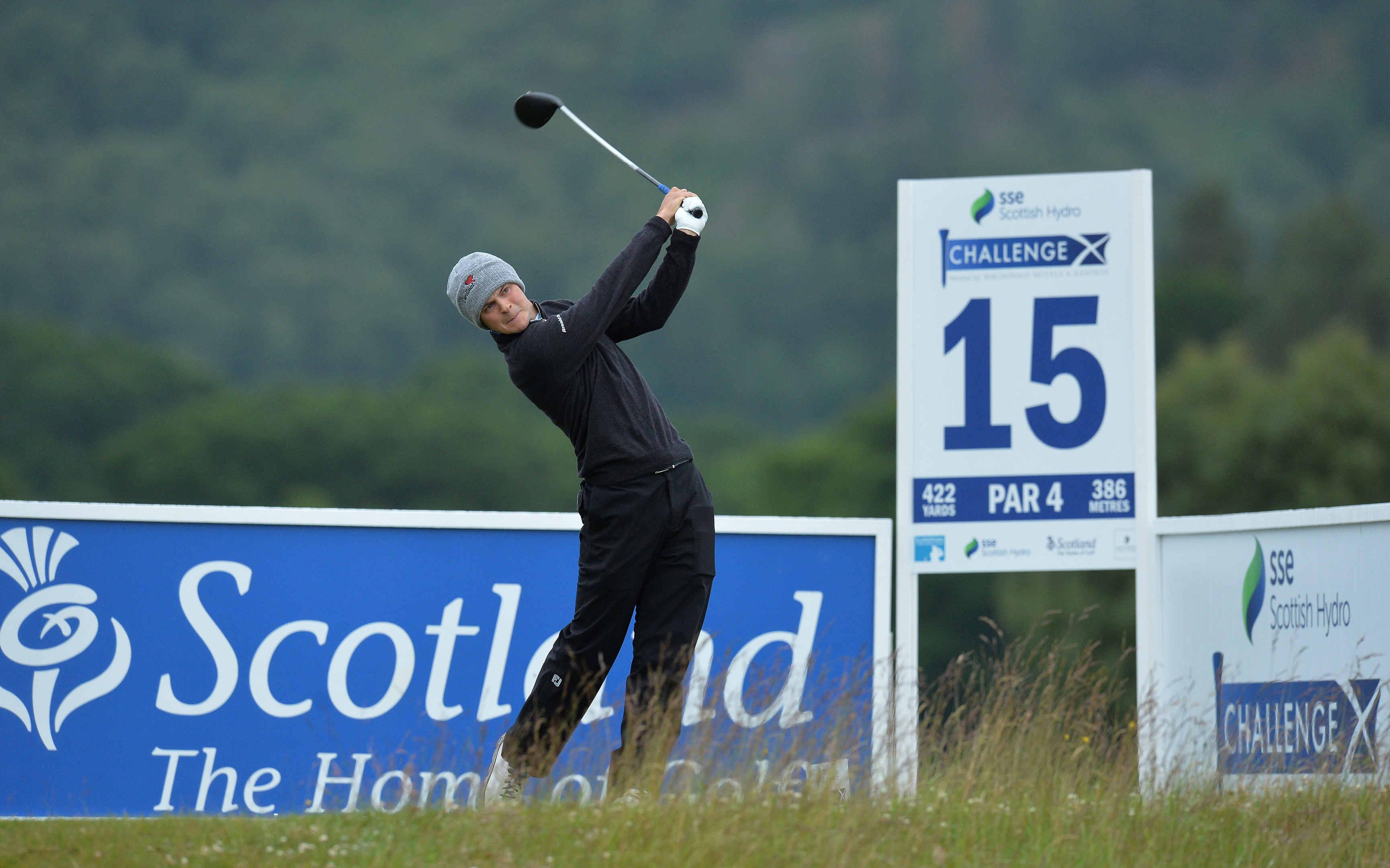 Jack McDonald shot a 66 to move into contention for the weekend at the SSE Scottish Hydro Challenge.