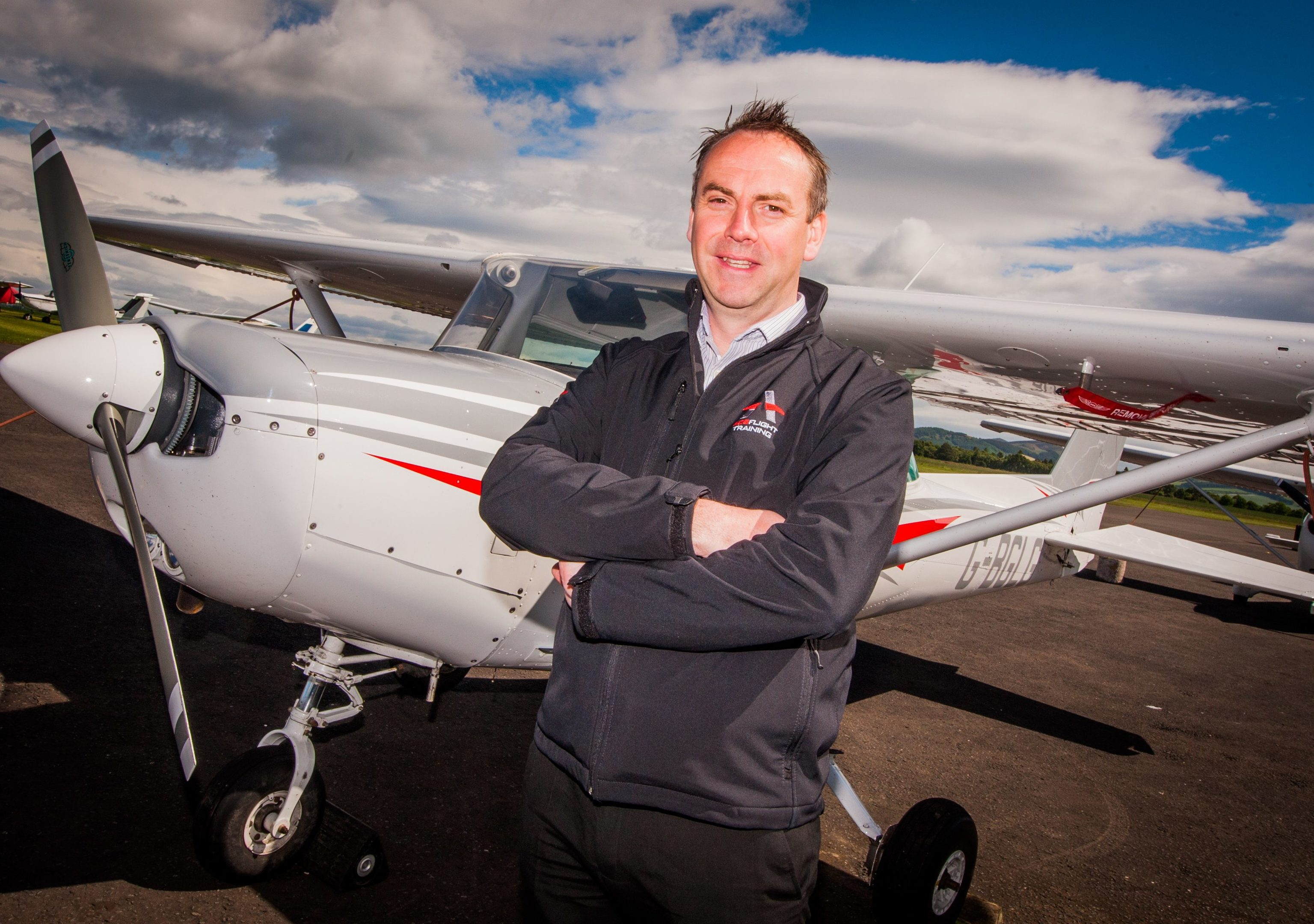 ACS Aviation managing director Graeme Frater at Perth Airport