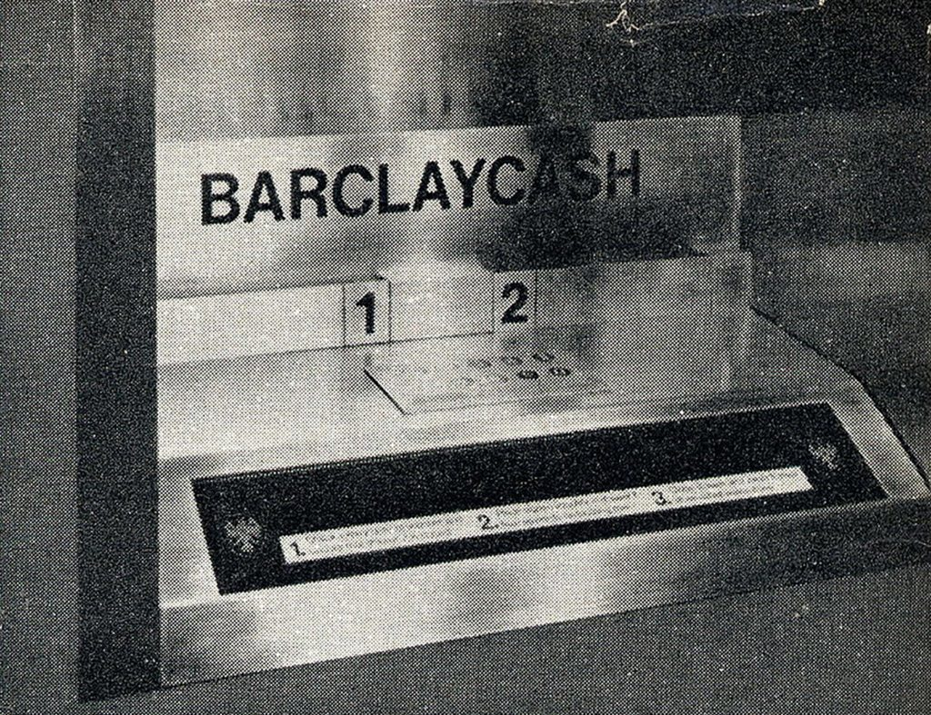 The original Barclays cash machine in Enfield, London on June 27 1967.