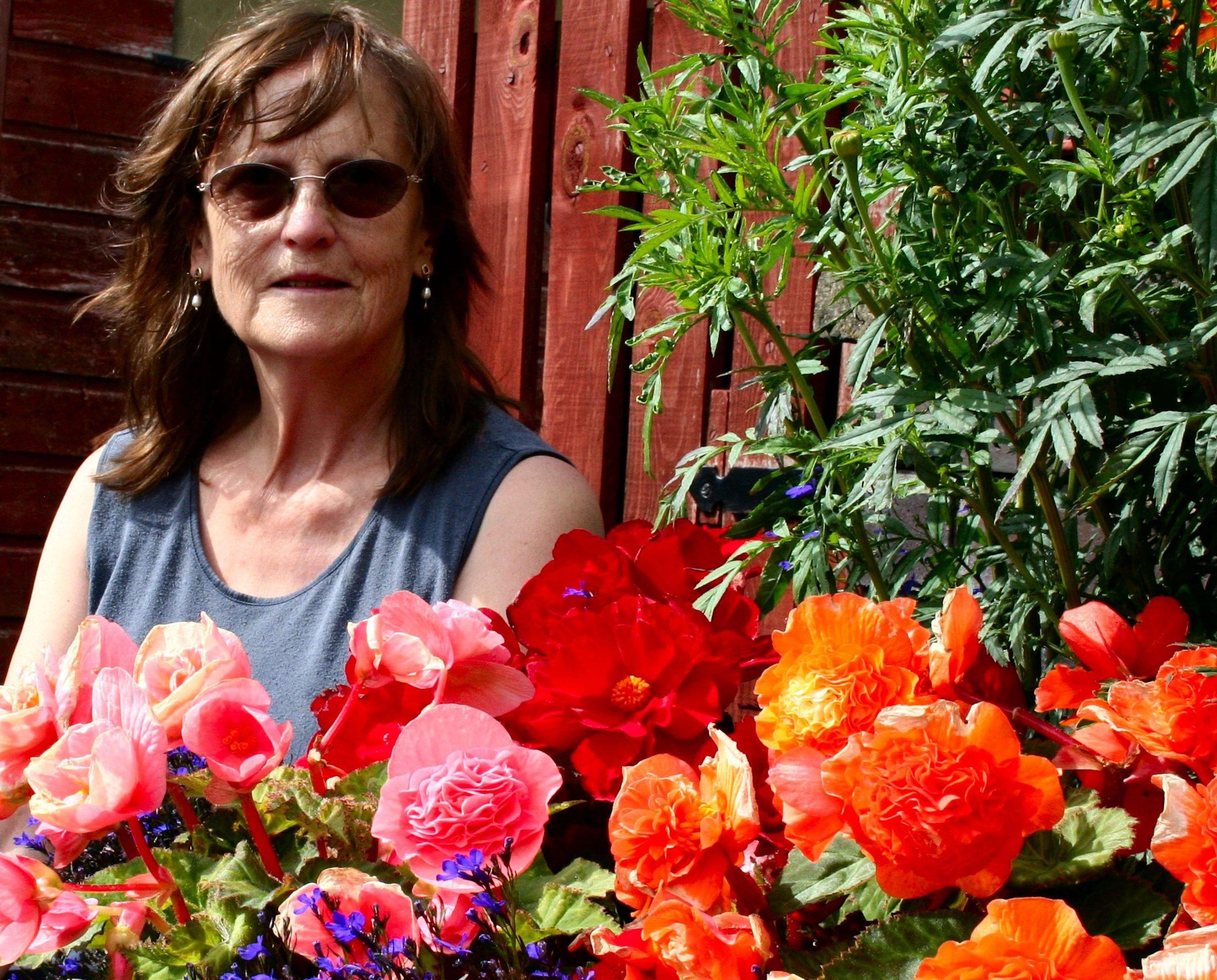 Anna in the summer garden
