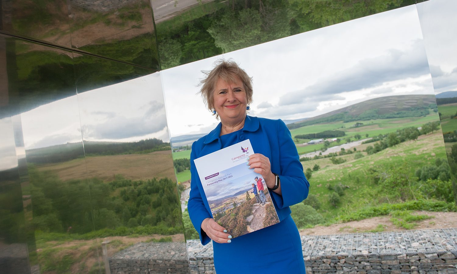 Roseanna Cunningham launches the new Cairngorms National Park plan.