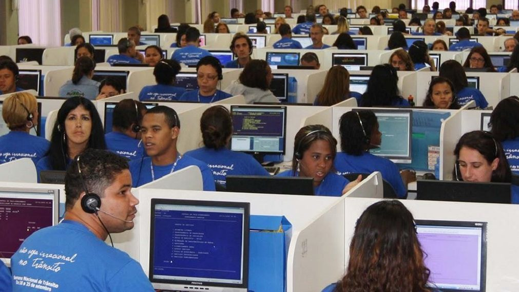 View of a call centre