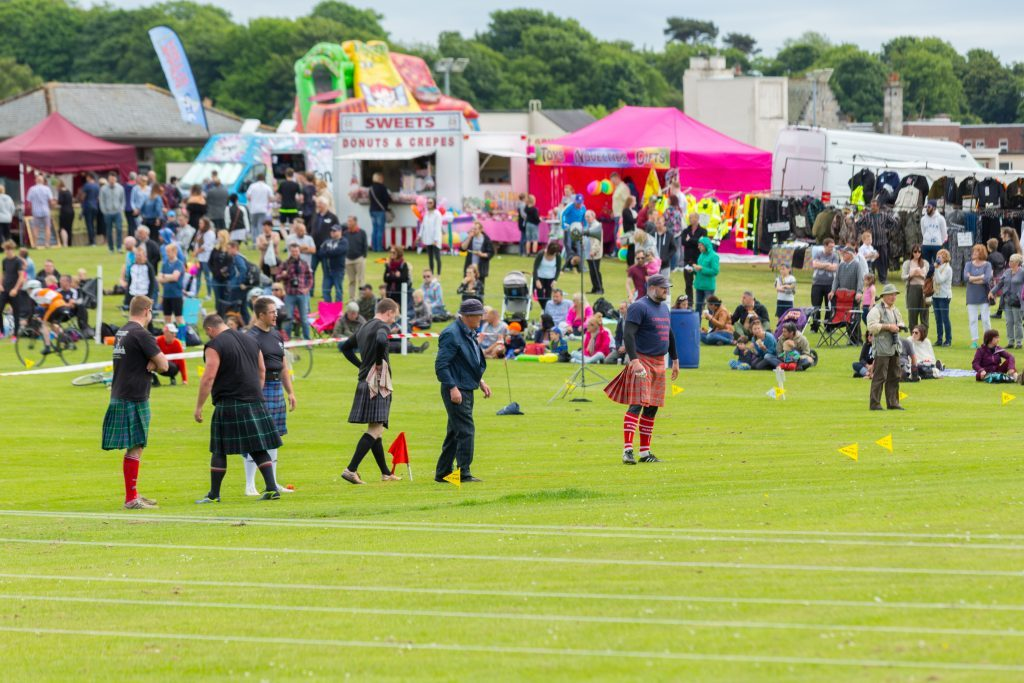 The annual Markinch Highland Games.