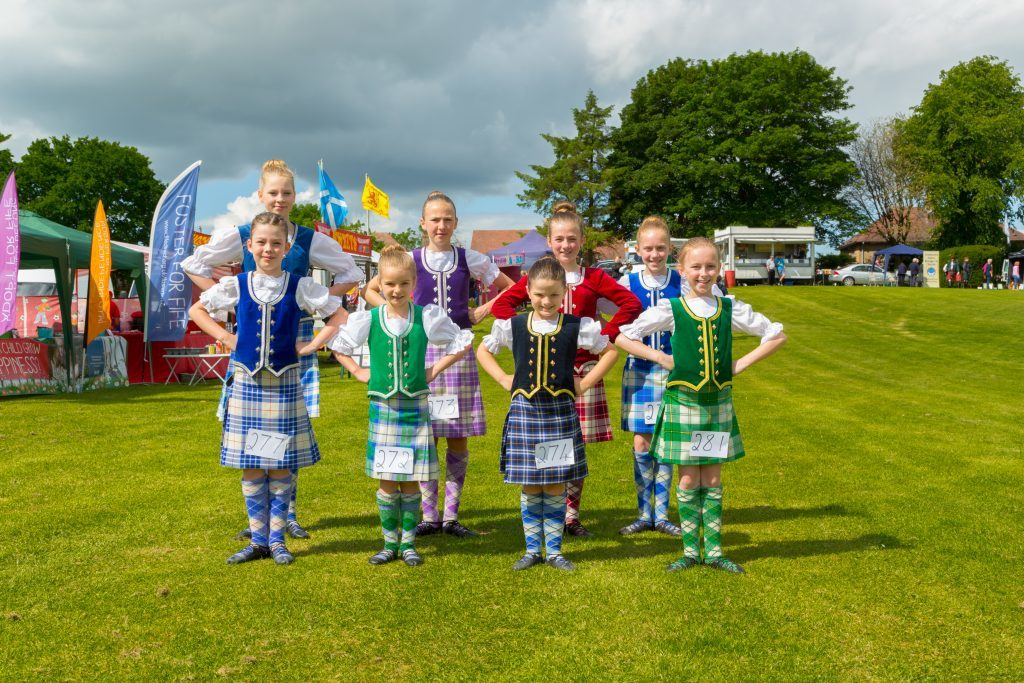Dancers at the Markinch Highland Games.