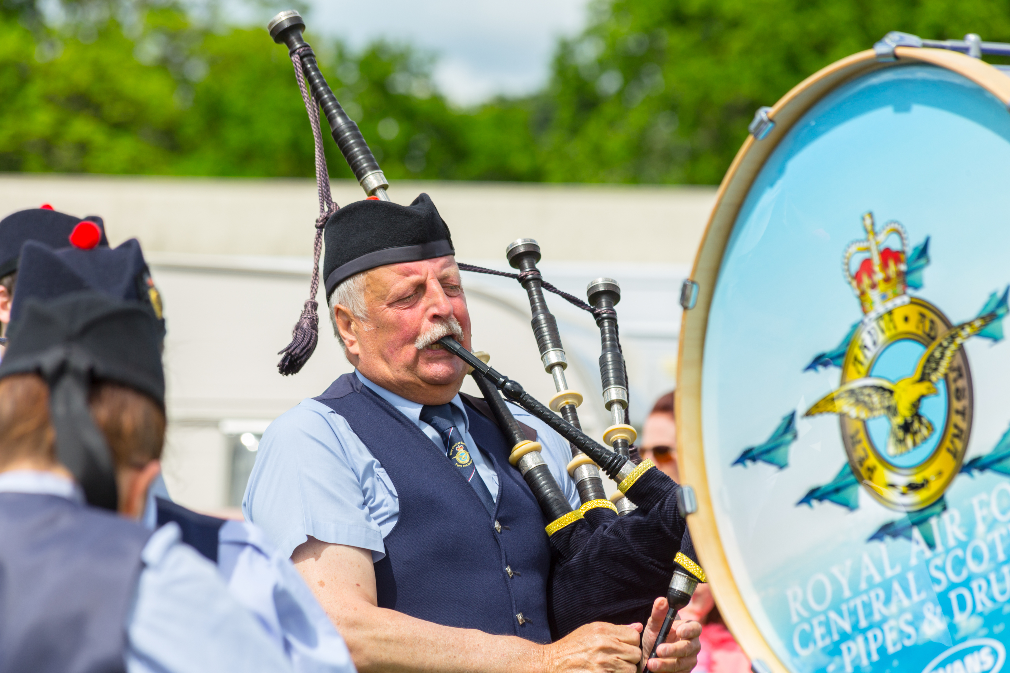A piper at the Markinch Highland Games.