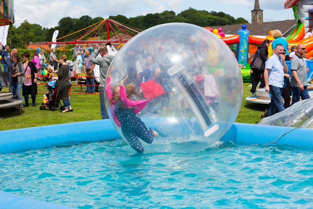 A giant bubble at the Markinch Highland Games.