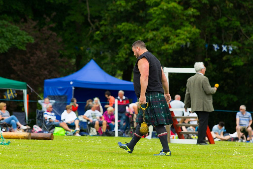 Highland Games competitors at Markinch.