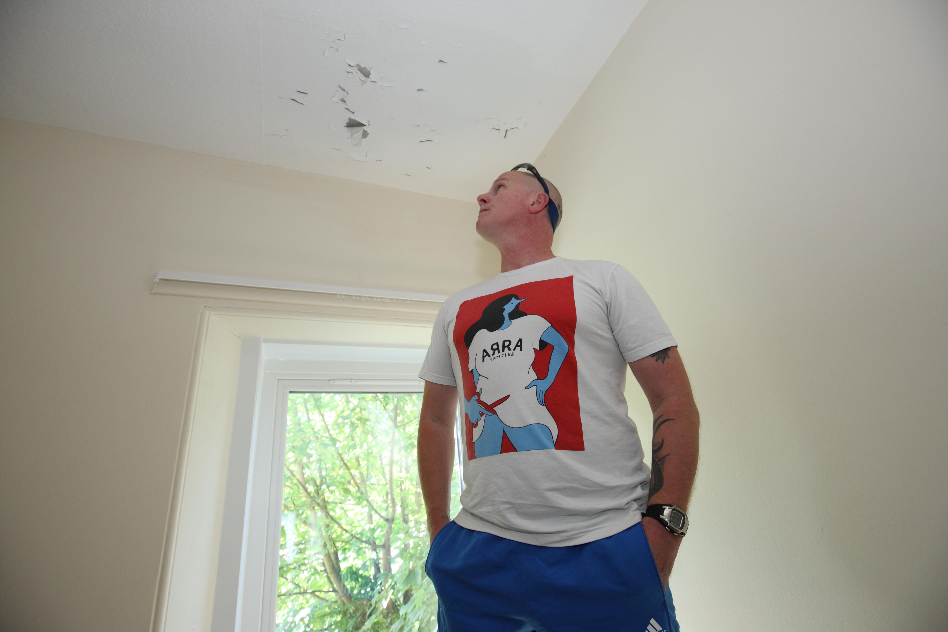 Craig Donald at his flat in Perth.