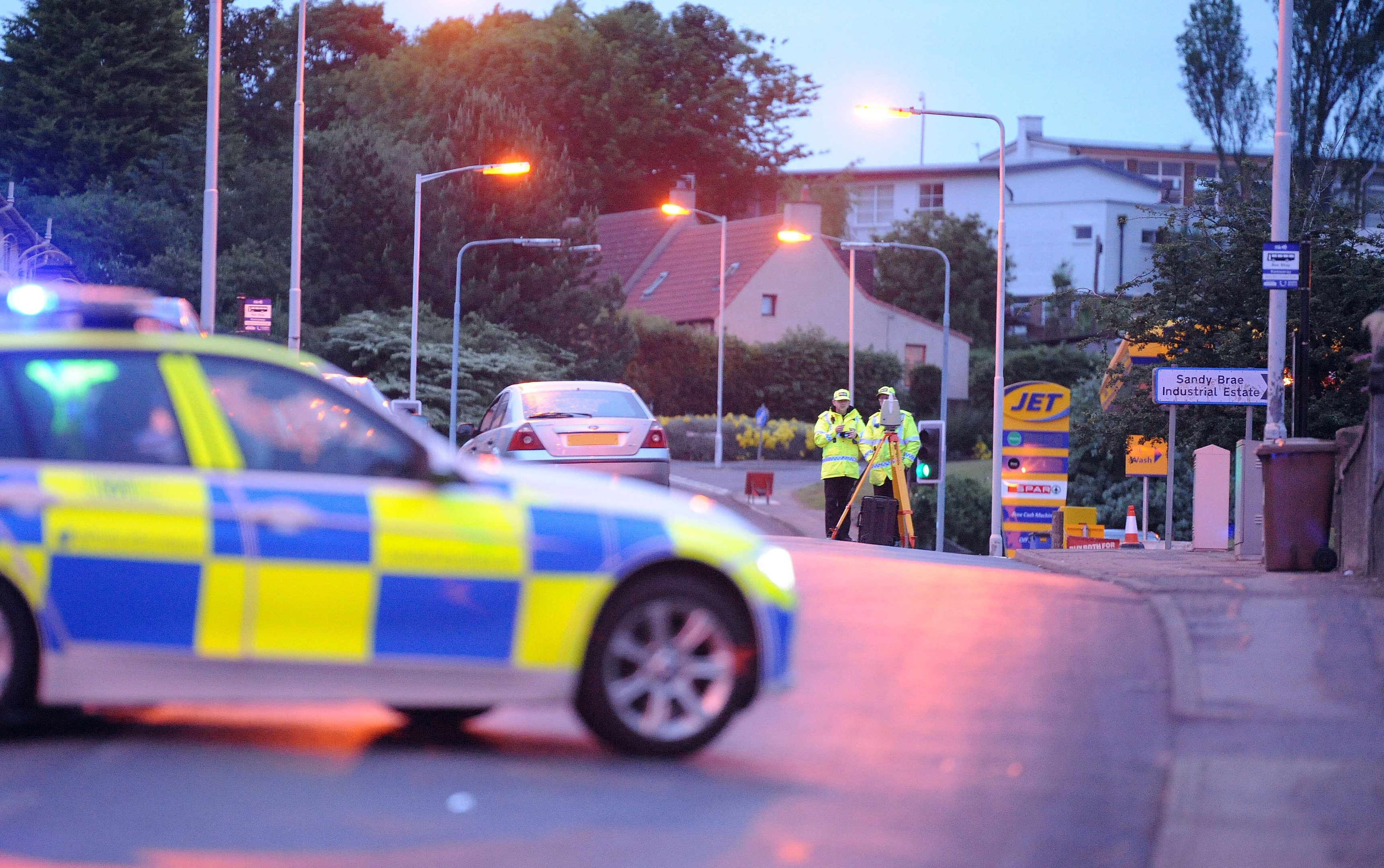 Police investigators at the scene of Thursday nights accident in Kennoway.