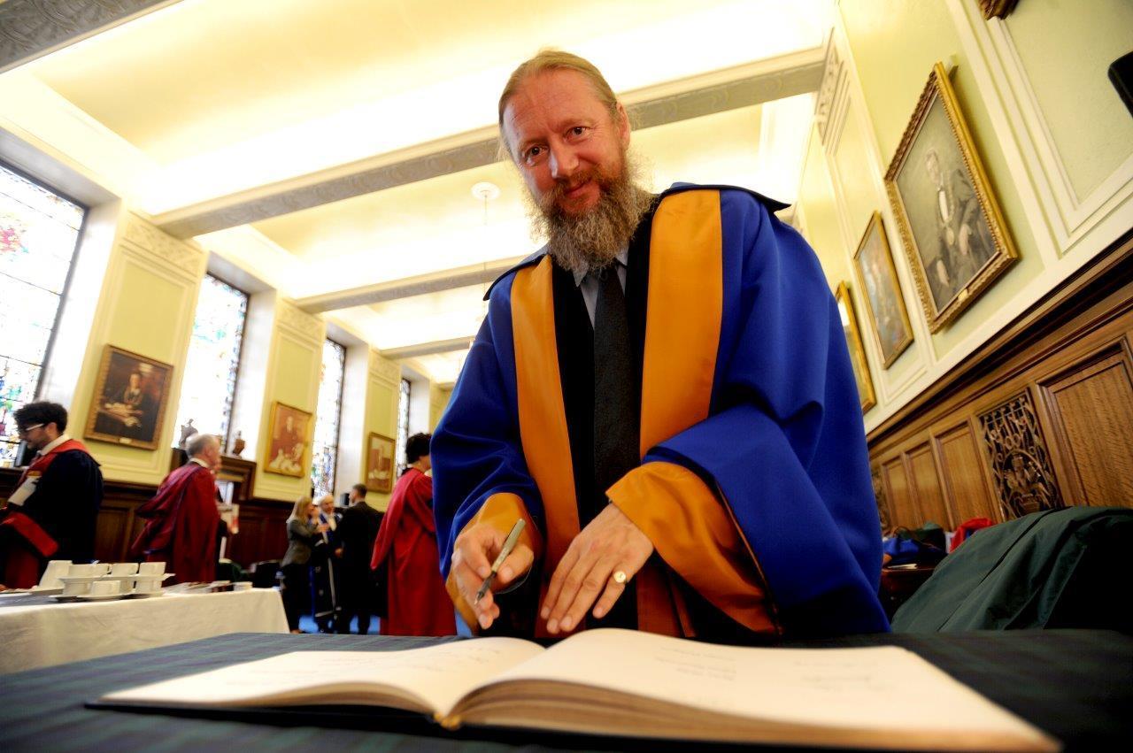 David Mackenzie at the Graduation ceremony on Friday morning.