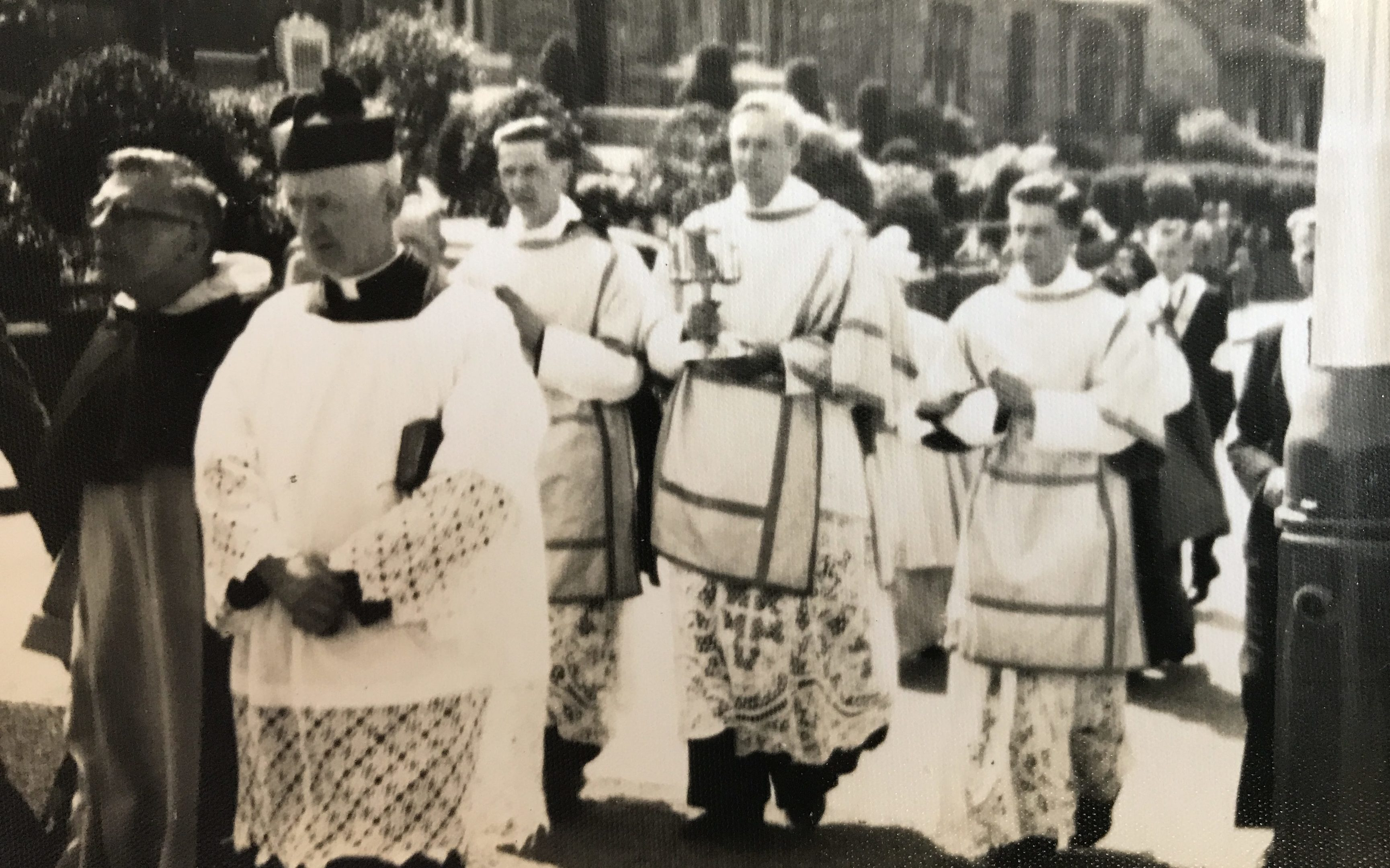 A procession to East End Park in the early 1960s.