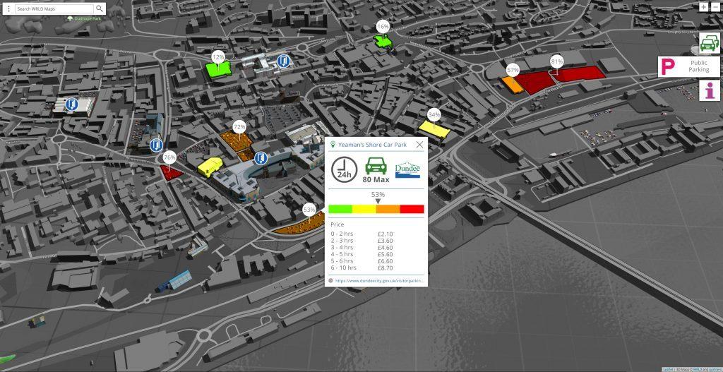 Eegeo Live POI Data Vis (Parking)