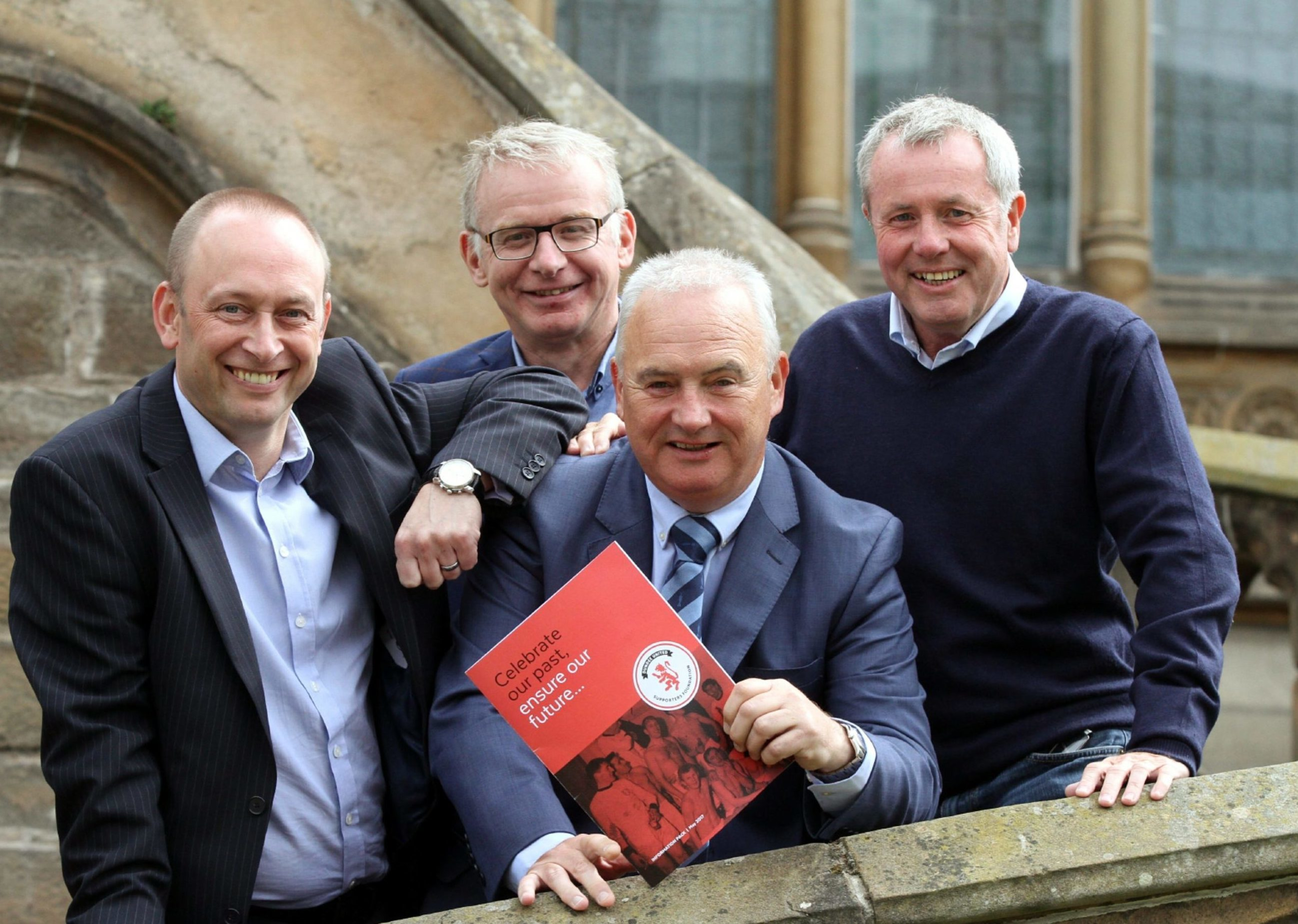 DUSF founders Graham McLelland, Martin Manzi, John Gibson and Mike Evans.