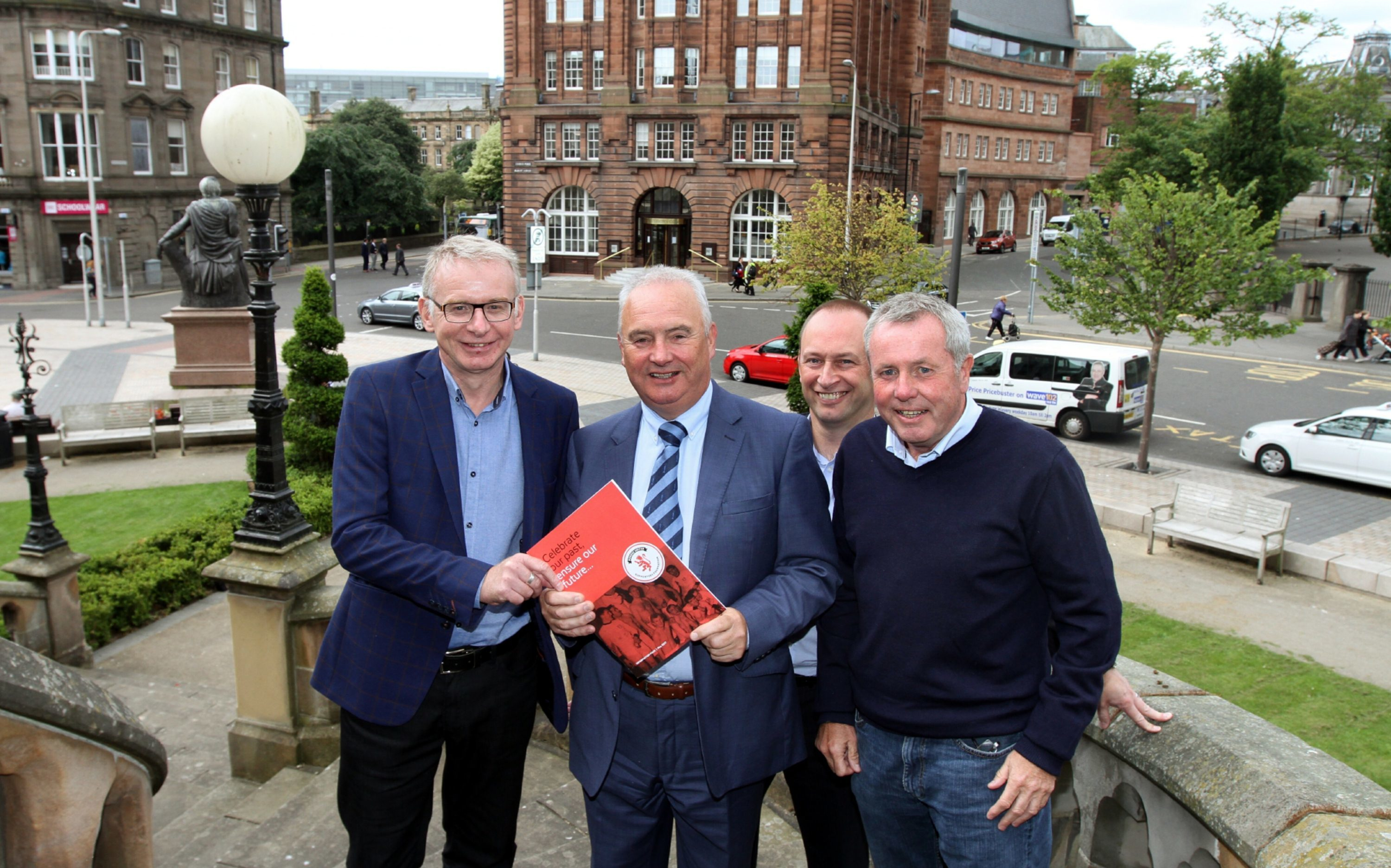Martin Manzi with fellow steering group members John Gibson, Graham McLelland and Mike Evans.