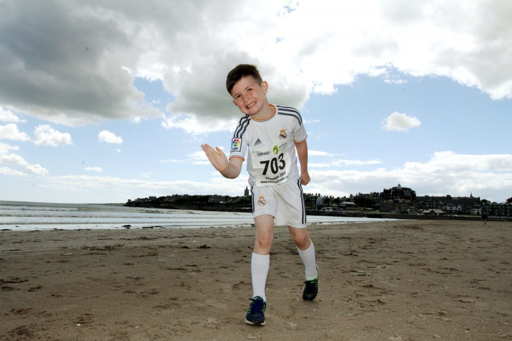 Robbie Yule, from St Andrews, who came 3rd in the children's run.