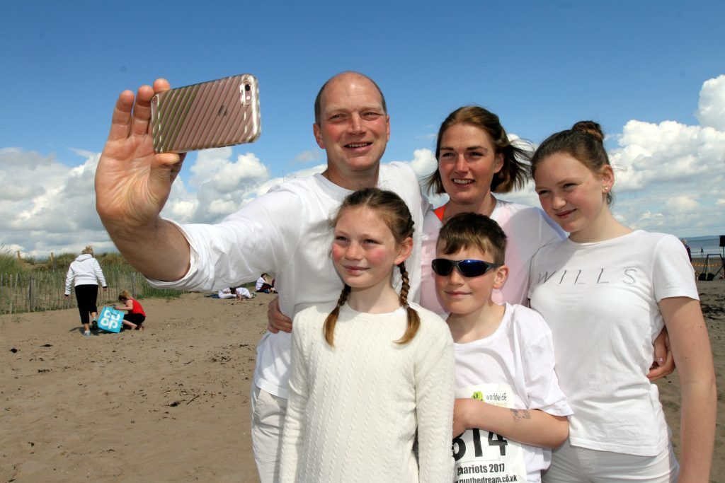 The Bell family from Crail, Magnus, Laurie, Josie, Mirren and Finn.