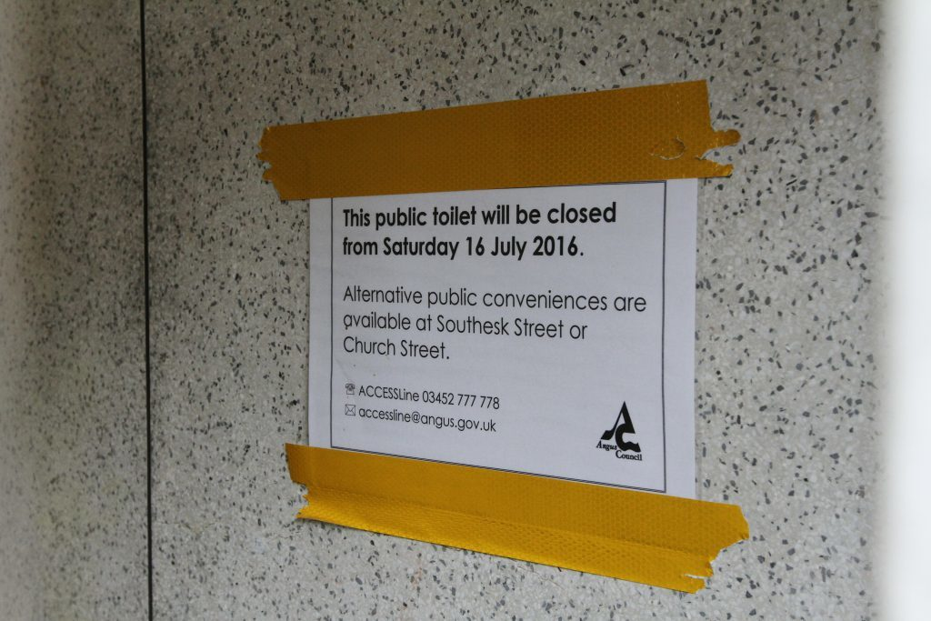 Public toilets in Dalls Lane,are up for sale.