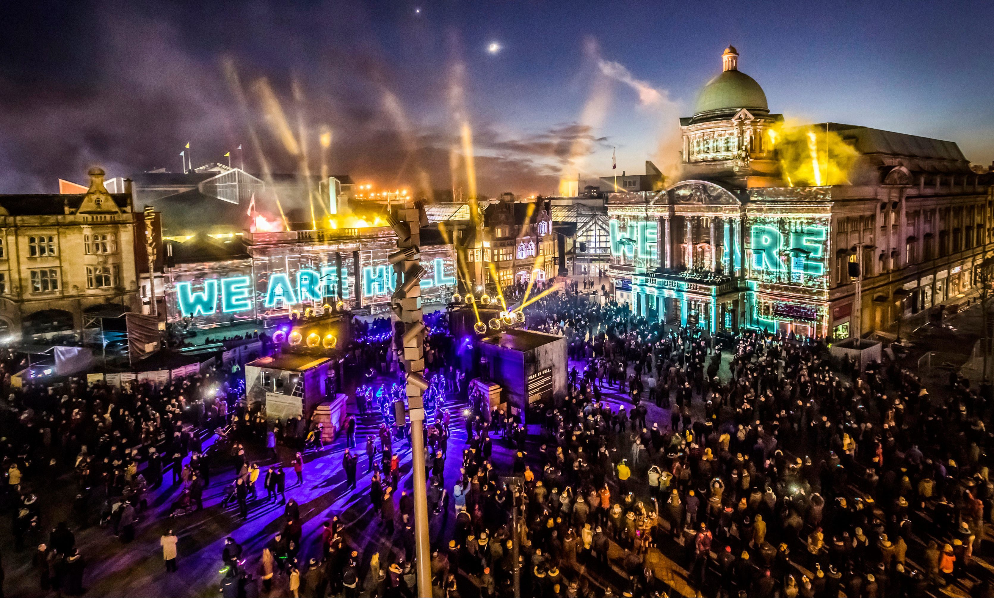 Hull threw a massive street party at the start of its 2017 celebrations.