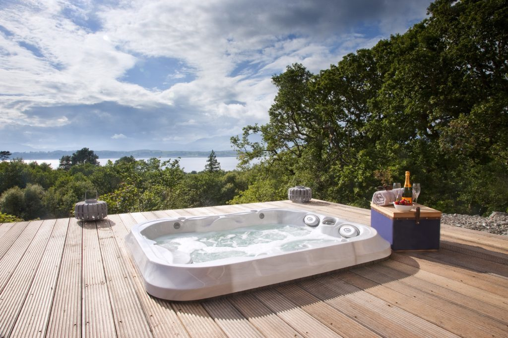 Isle of Eriska hot tub.