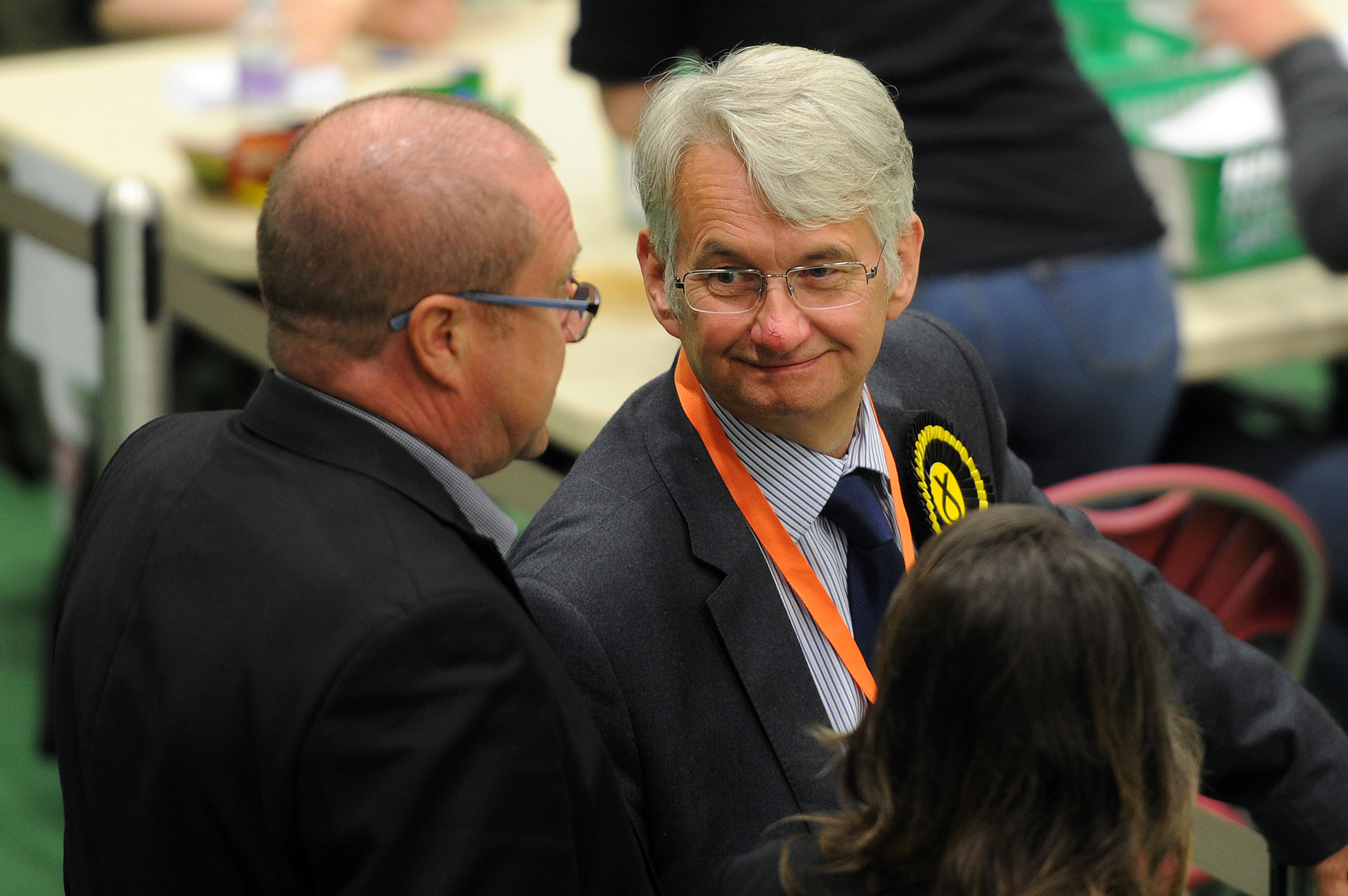SNP candidate Mike Weir at the Saltire Centre, Arbroath.