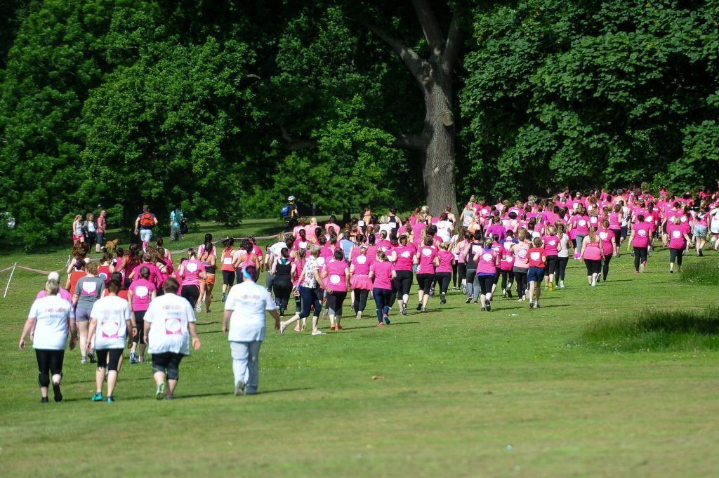 Runners begin the Race for Life.