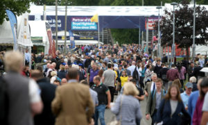 Crowds enjoy the Royal Highland Show.