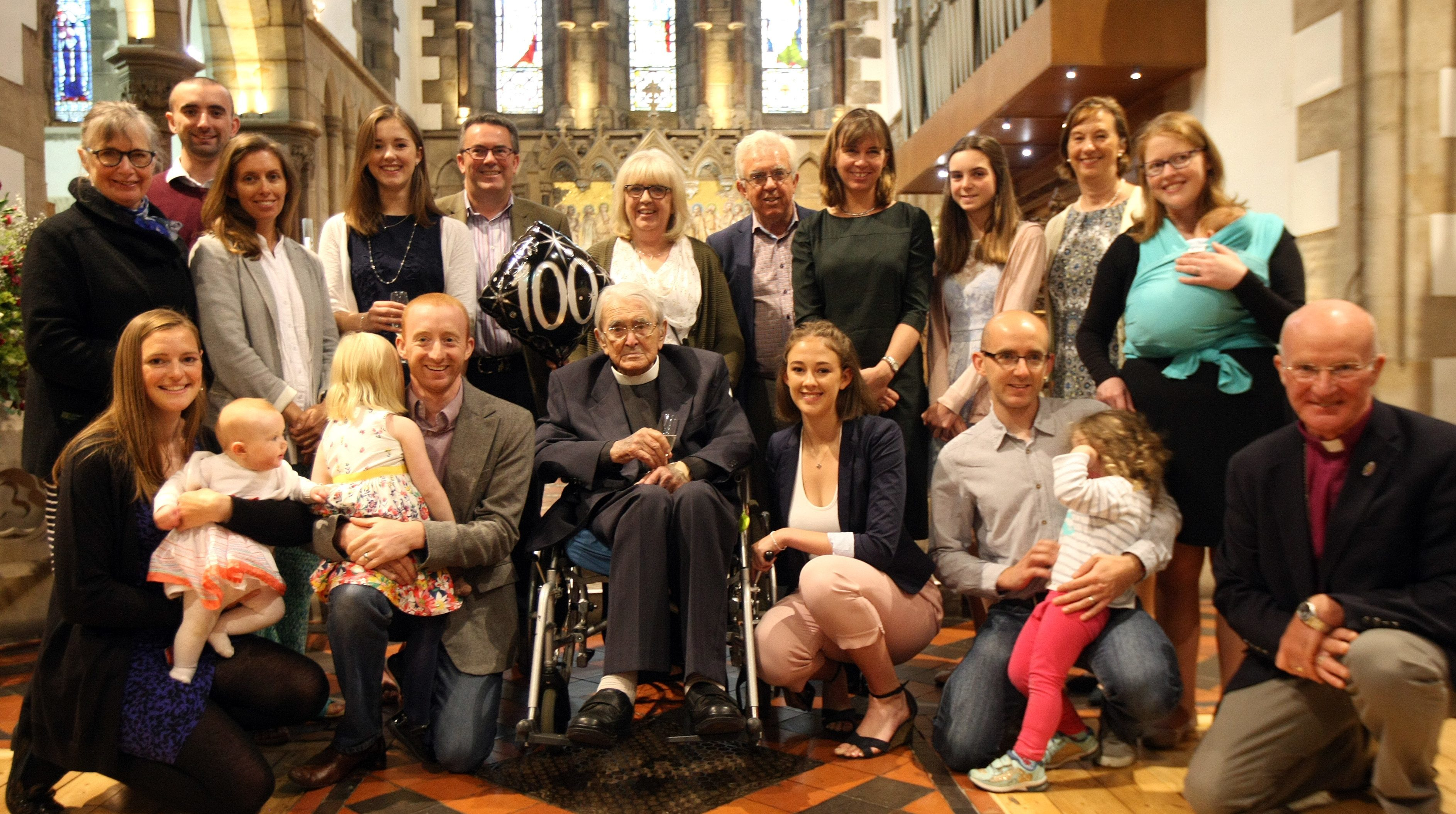 Rev Douglas Tucker celebrated his 100th birthday at St Andrews Episcopal Church with family and friends.
