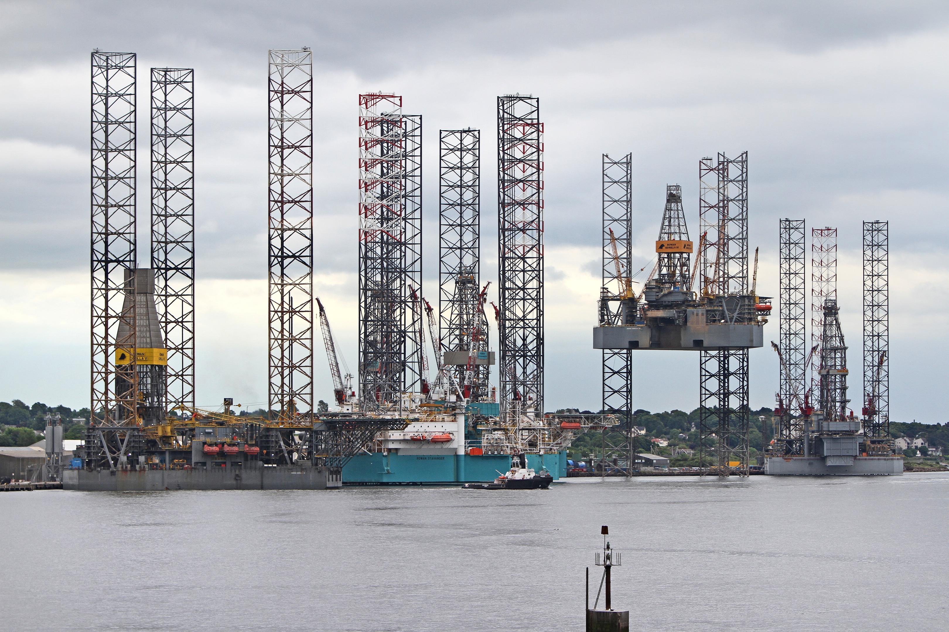 The Rowan Gorilla V berths at Dundee Port.