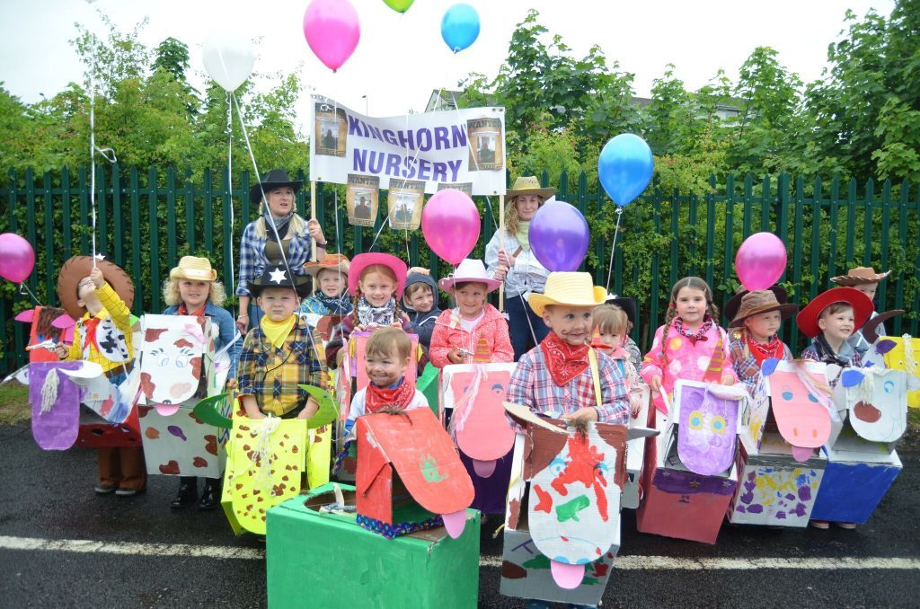 Kids from Kinghorn Nursery took part in the parade. Pic by Andy Menzies.