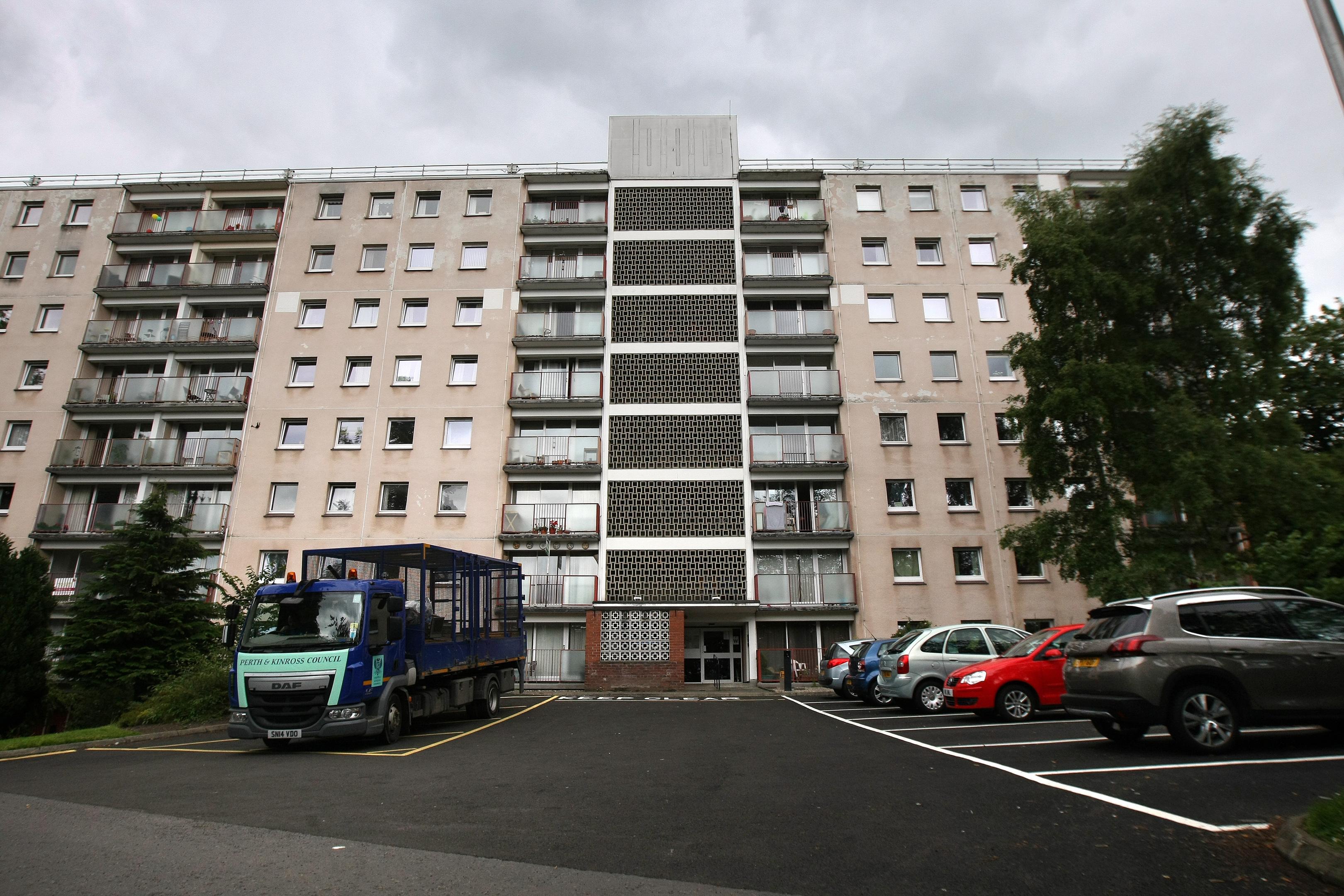 High rise flats in Potterhill.