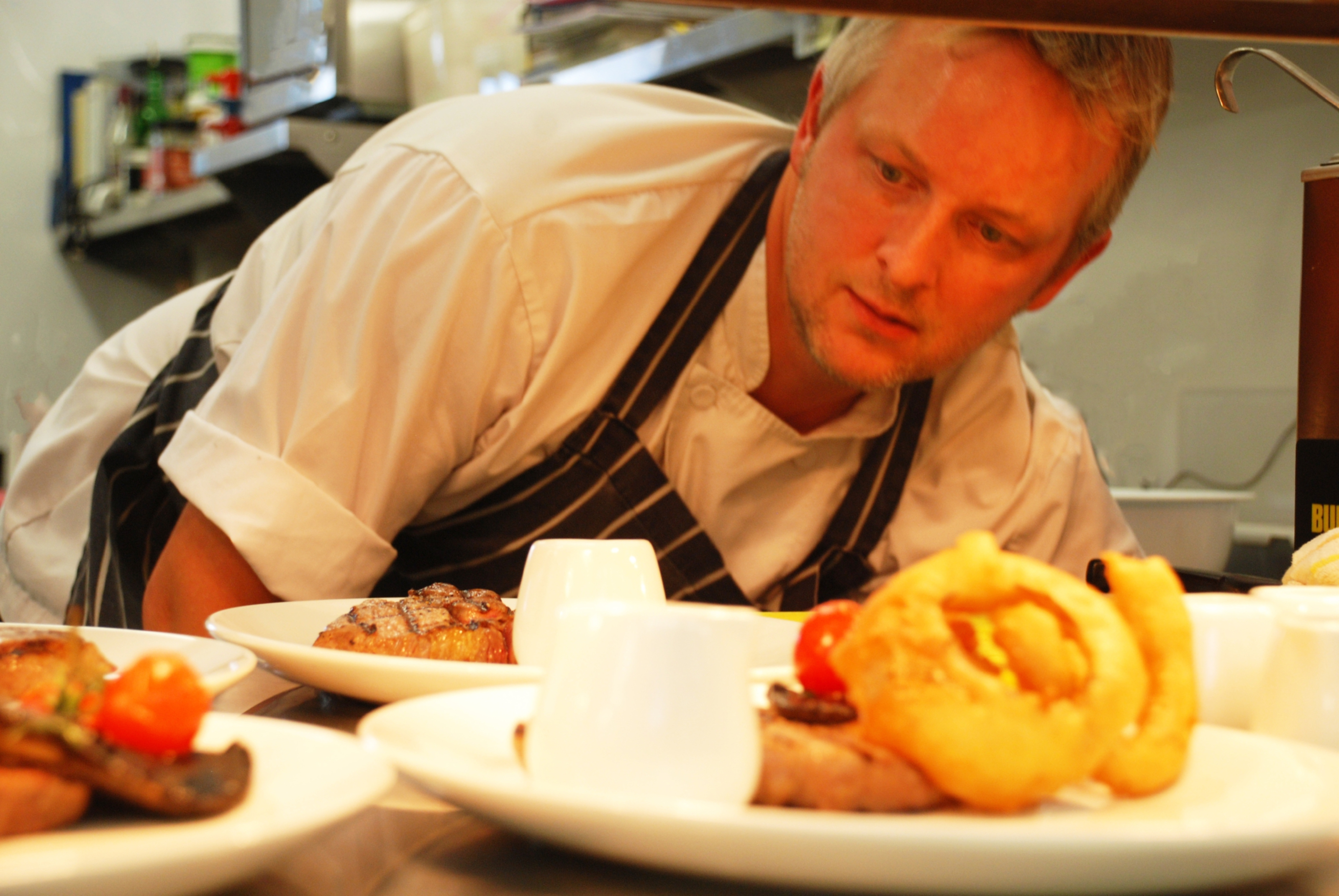 Jack Marsh cooking up a storm at Meikleour Arms.